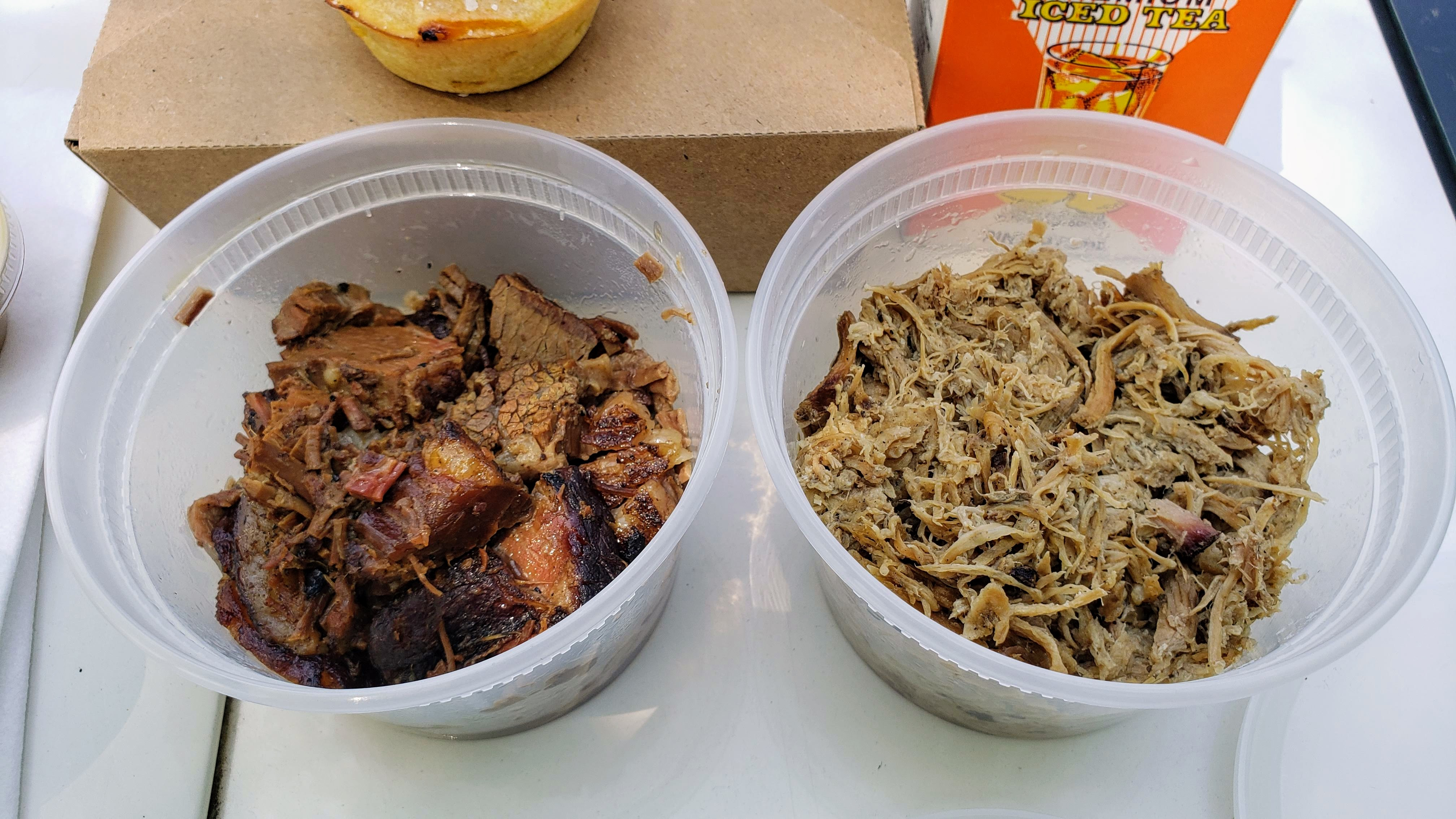 Burk's Barbeque brisket and pulled pork
