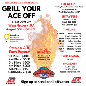 Grill Your Ace off 2020 poster